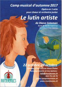 "Opera pentru copii ""Spiridusul artist"" de Diana Cotoman cantata in Elvetia, in octombrie 2017."